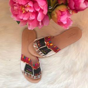 Kate Spade taco truck slide sandals